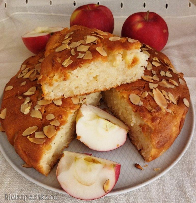 Яблочный пирог без яиц на кефире от Люды Изи Кук