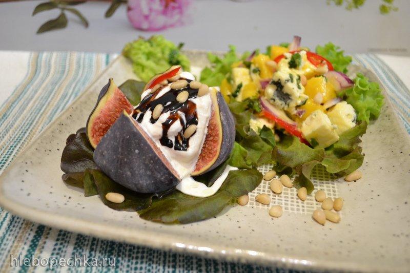 Сборный салат с инжиром, манго, страчателлой