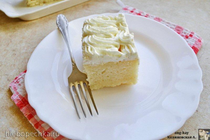 "Пирог ""Три молока"" из теста с белками и кремом из маскарпоне (+видео)"