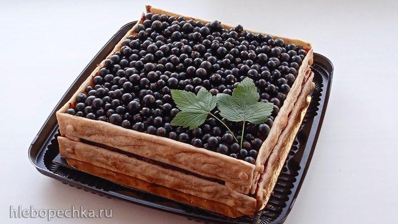 Постный торт «Ящик смородины» (+видео)