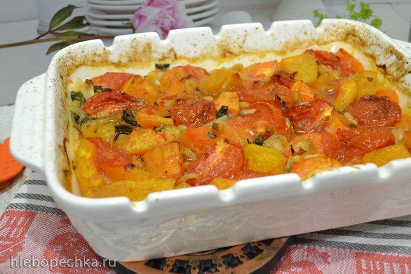 Жаркое с тыквой и фасолью на яблочном сидре