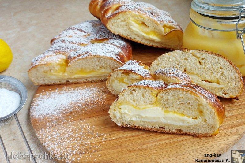Пирог с творогом и лимонным курдом из ночного теста (+видео)