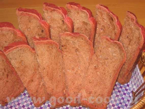 Хлеб со свеклой и тмином  (хлебопечка)
