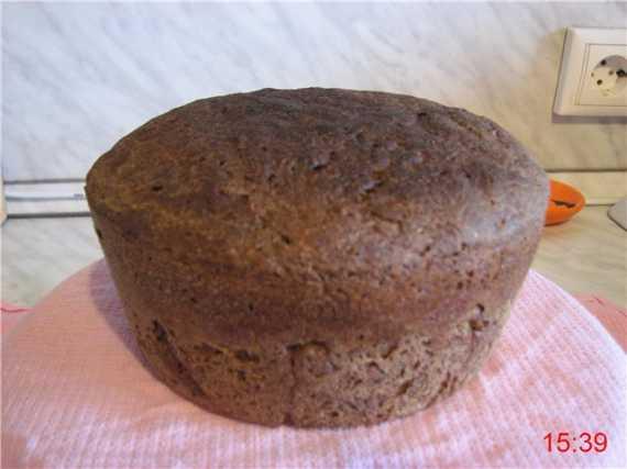 Ржаной кислый хлеб с ярким вкусом тмина и кориандра (в аэрогриле)
