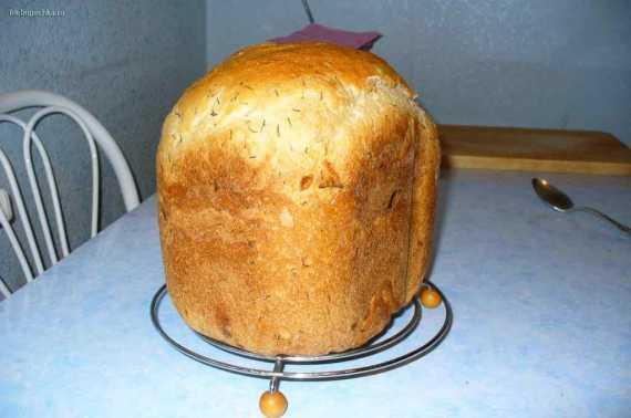 Луковый хлеб с укропом (хлебопечка)