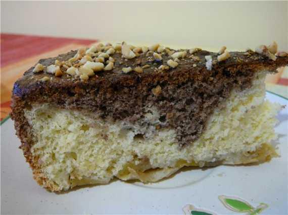 Мраморно-яблочный бисквит