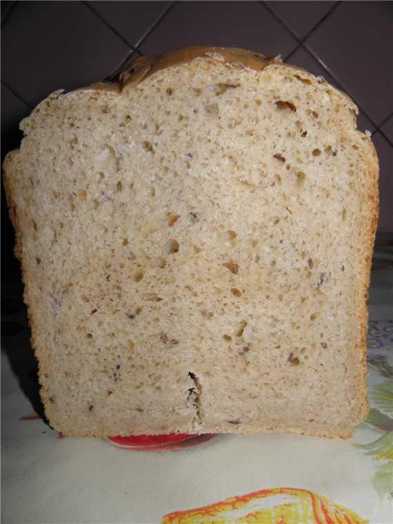Хлеб гречнево-овсяный сдобный (хлебопечка)