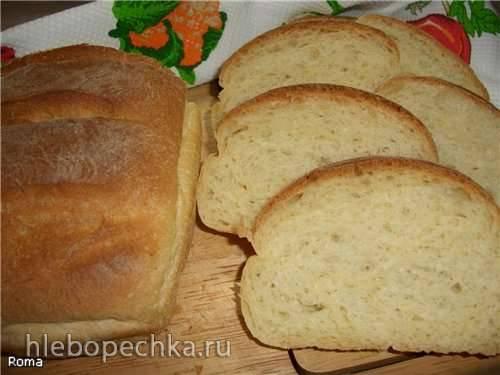 Пшеничный подовый хлеб на рассоле (духовка)