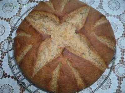 Хлеб ржано-пшеничный на закваске (в духовке)