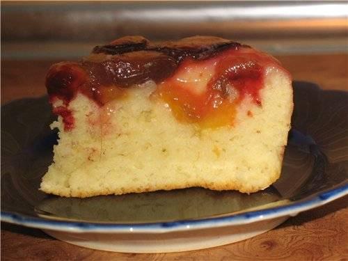 Пирог фруктовый быстрый