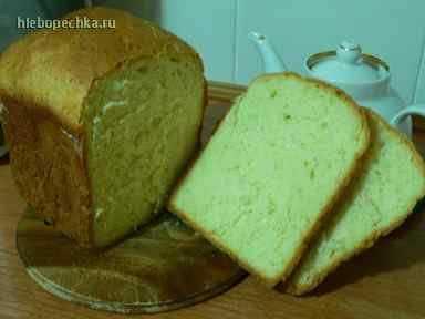 Хлеб пшеничный молочный с кунжутом (хлебопечка)