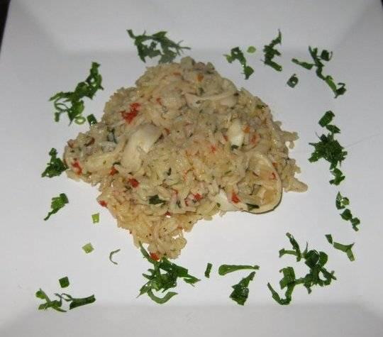 Рис с кальмарами