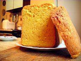 Морковный хлеб на топлёном молоке в хлебопечке