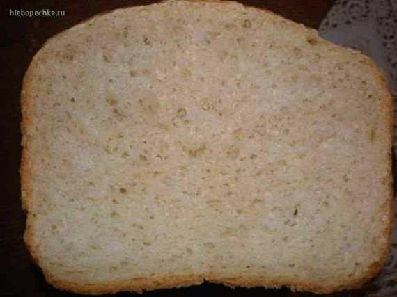 Белый столовый хлеб с яблоком (хлебопечка)
