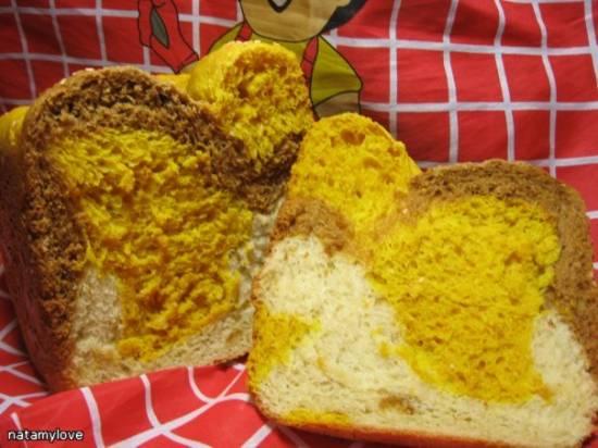 Цветной хлеб (хлебопечка)