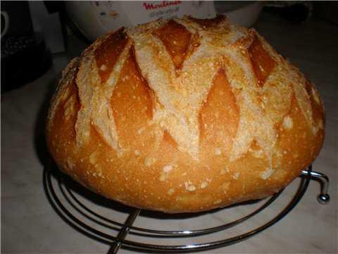 Хлеб пшеничный на спелом тесте (самозаквасочный) Хлеб пшеничный на спелом тесте (самозаквасочный)