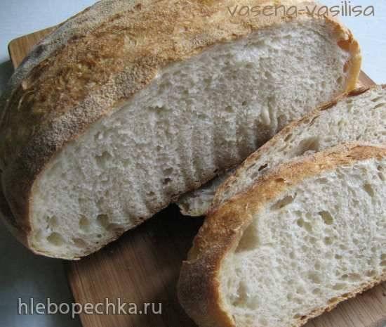 Хлеб на опаре из спелого теста (духовка)