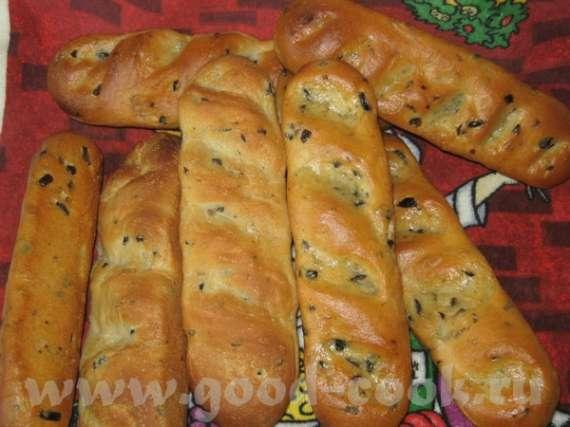 Багеты с маслинами и розмарином