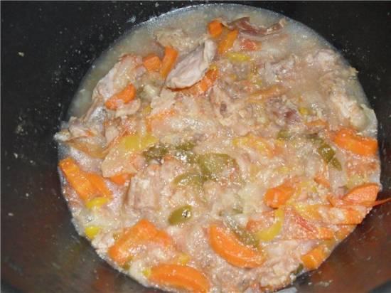 Рагу из кролика с овощами в мультиварке Вinatone ВМ 2170