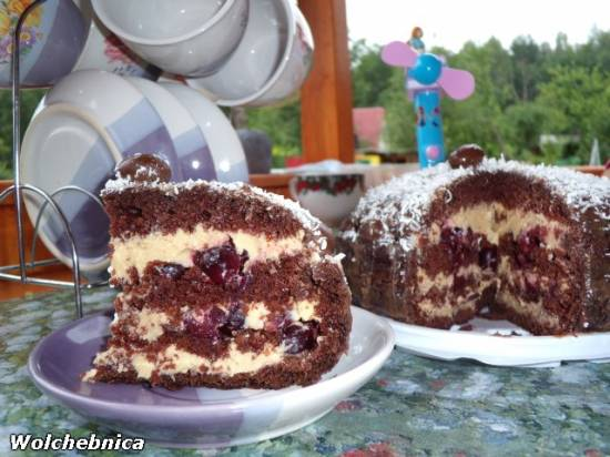 Крем для торта с пьяной вишней