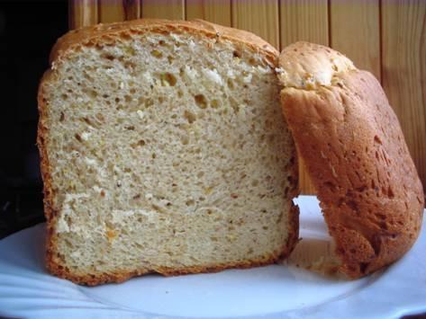 Апельсиново-кунжутный хлеб (хлебопечка)