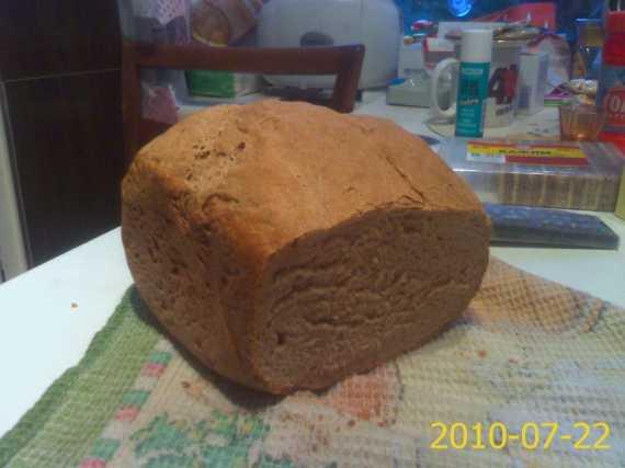 Пшенично-ржаной хлеб Полюшко (хлебопечка)