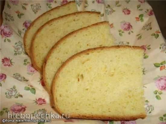 Хлеб пшеничный мятно-апельсиновый (духовка)
