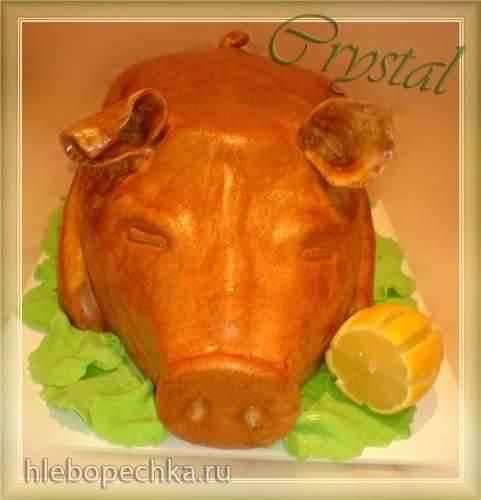 Торт Поросенок запеченный (мастер-класс)
