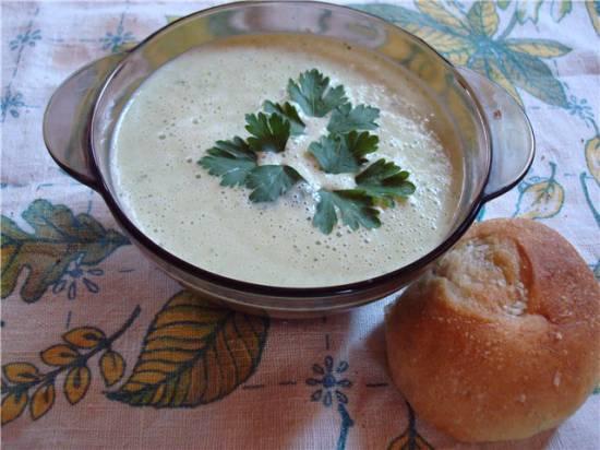Суп вишисуаз с петрушкой холодный