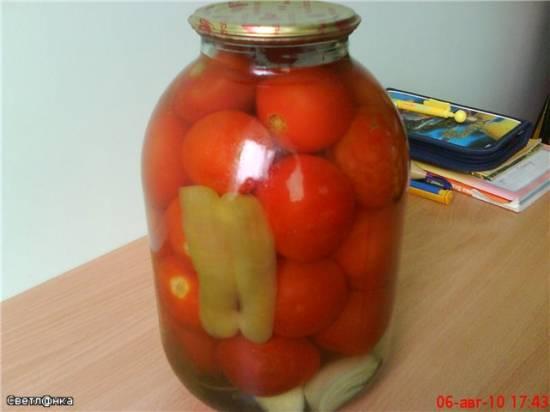 Маринованные  помидорчики (для тех, кто не любит остренькое)