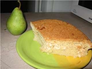 Пирог песочный с творожно-яблочной начинкой