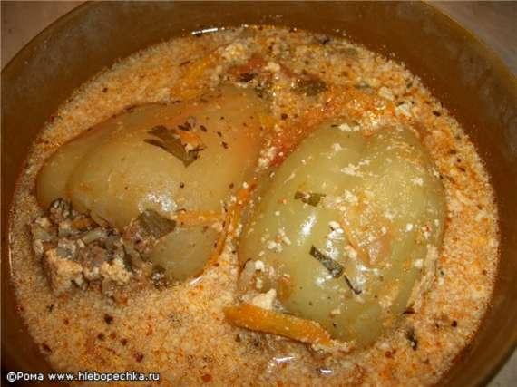 Перец, фаршированный мясом и овощами (Cuckoo 1054)