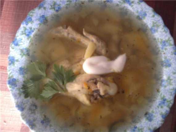 Рассольник с курицей Рассольник с курицей