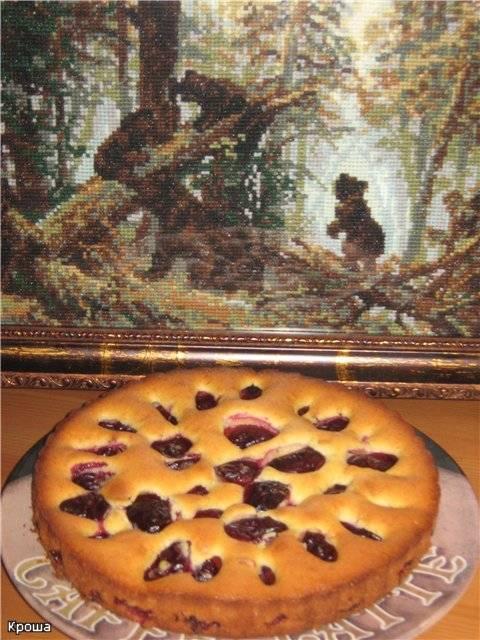 Пирог сливочный сливовый