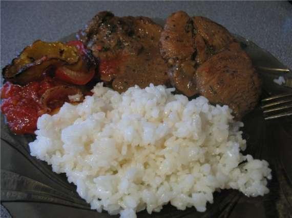 Шейка свиная и рис ( Cuckoo 1054)