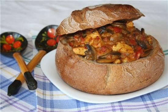 Фрикасе в хлебе