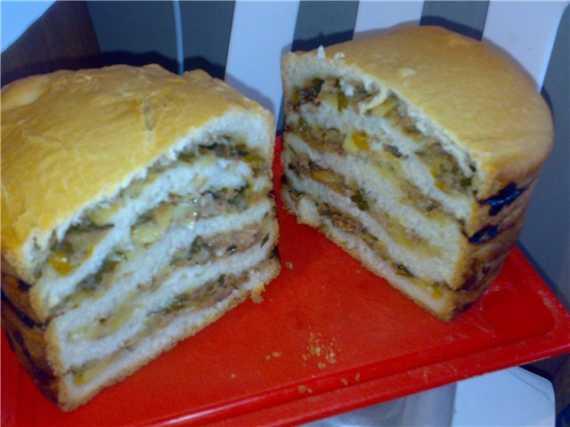 Хлебец с овощной начинкой