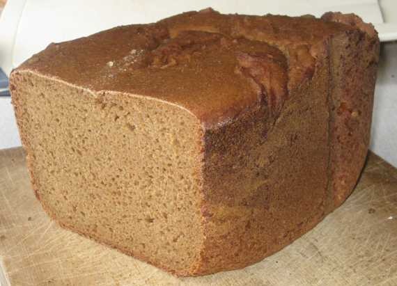 Ржаной хлеб с квасным суслом на опареРжаной хлеб с квасным суслом на опаре