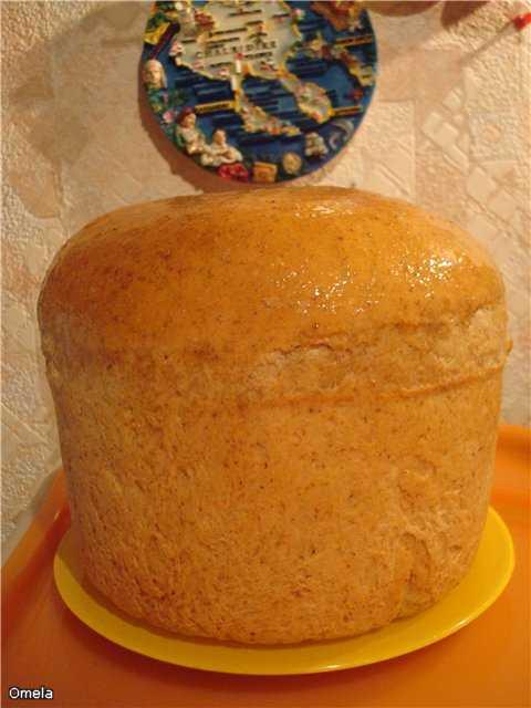 Пшеничный хлеб с крупкой и ЦЗ мукой на опаре