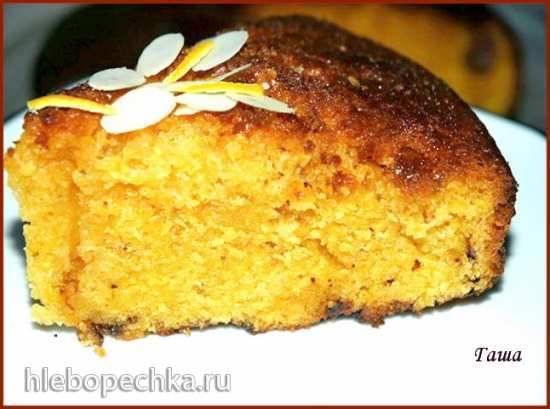 Пирог апельсиновый с шоколадными чипсами