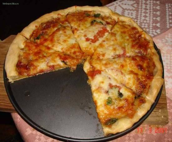 Рецепт вкусного теста для пиццы без молока