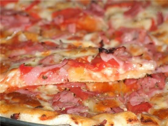 Пицца из долго хранящегося теста «Когда нет времени»