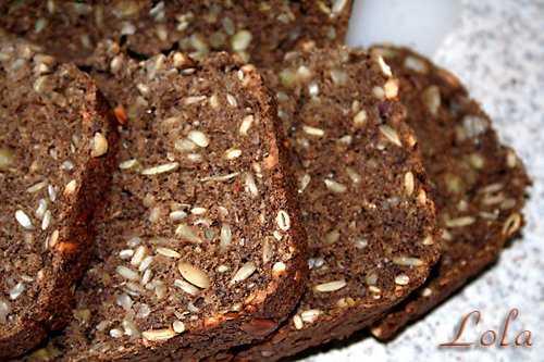 Хлеб пшенично-ржаной с рисовой мукой,орехами и семечками