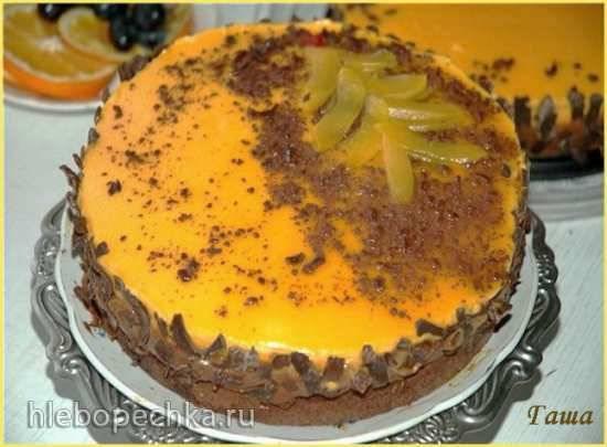 Торт шоколадно–абрикосовый