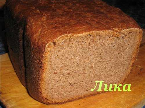 Хлеб ржано-пшеничный на виноградном соке (хлебопечка)