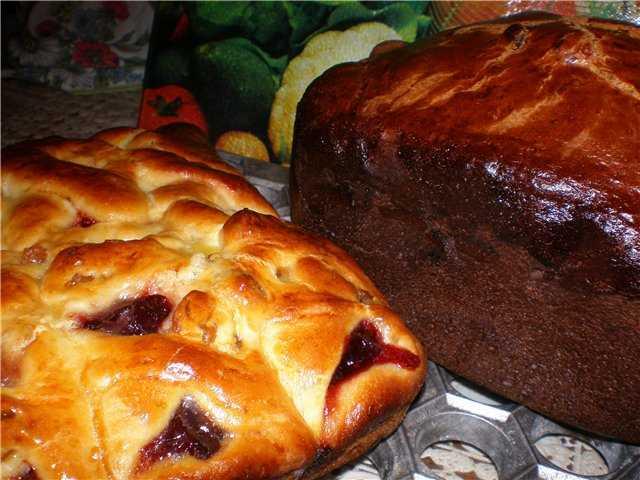 Кулич из венского теста в хлебопечке
