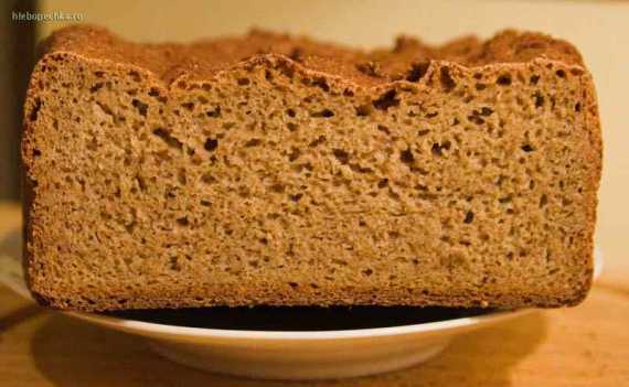 Хлеб ржано-пшеничный простой в хлебопечке