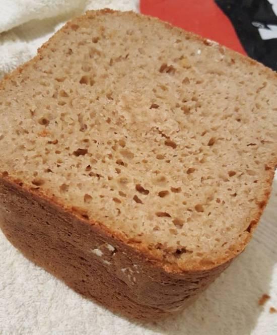 Ржано-пшенично-гречишный хлеб