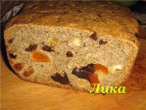 Хлеб ржаной с сухофруктами и орехами Хлеб ржаной с сухофруктами и орехами