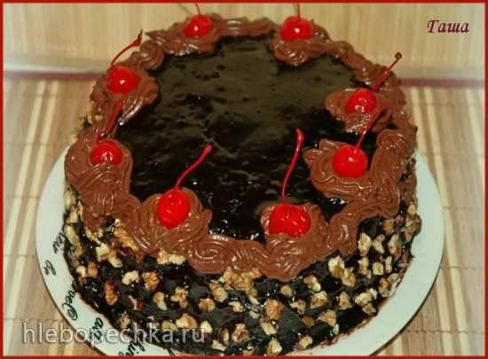 Торт шоколадный Куси или Гормон счастья (духовка, мультиварка)